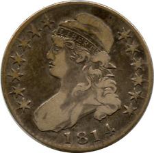1814 Capped Bust Half Dollar Lettered Edge VG-Fine
