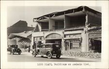 Long Beach Los Angeles CA Restaurant & Car Earthquake Disaster c1930 RPPC