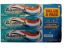 Aquafresh Flouride Toothpaste Net Wt. 5.6 Oz. X3 Fresh Mint
