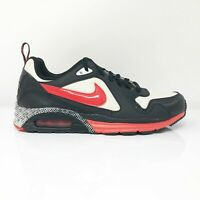 Nike Womens Air Max Trax 649101-160 Black White Running Shoes Lace Up Size 9