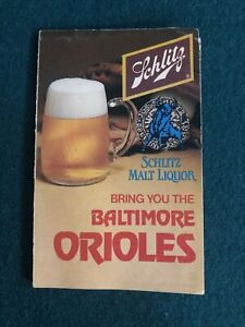 1979 BALTIMORE ORIOLES SCHLITZ BEER BASEBALL POCKET SCHEDULE FREE SHIPPING