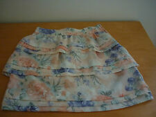 """""""BARDOT"""" MULTICOLOURED FLORAL TIERED SKIRT - SIZE 8"""