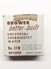 Brower 31W Thermostat Wafer for Brooder and incubator Nos! Vintage