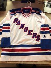 VINTAGE Starter Blank New York Rangers Hockey Jersey Adult Large 90s Free Ship!