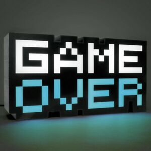 Night Lamp GAME OVER Sign Light Gaming Room Desk Setup 3D Light Table Bar Decor