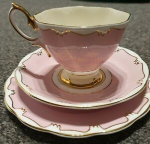 Royal Albert Pink and Cream Trio.