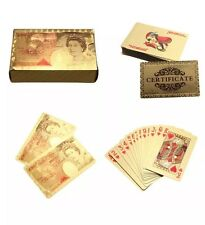 24K GOLD Plated £50 FOIL Plated POKER PLAYING CARDS FULL DECK