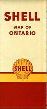 1952 Shell Road Map: Ontario (no header) NOS