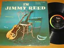 "BLUES LP - JIMMY REED - BLACK RAINBOW LABEL VEE-JAY 1004 - ""I'M JIMMY REED"""