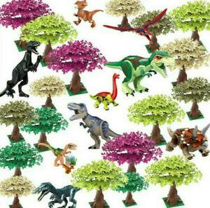 BNWOB 104pcs Large Tree Plants Leaves Building Block Accessories Custom FitsLego