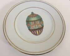 New listing Rare Gorgeous St.Limoges Faberge Egg Procelain Salad Plate 24k Gold Trim.