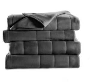 Sunbeam Heated Blanket Electric Fleece Winter Bedding w Controller Queen