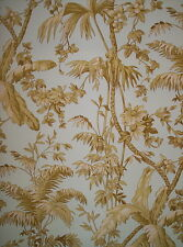 YORK SOFT BLUE AND GREEN TROPICAL TOILE / LEAF WALLPAPER # 192