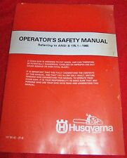 Vintage 80's Husqvarna Chainsaw Operators Safety Precaution Manual 23 Pages