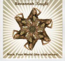 (EA344) Savannah Knight, Rock Your World (the club mixes) - 2007 DJ CD