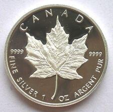Canada 1989 Maple Leaf 5 Dollars 1oz Silver Coin,Proof