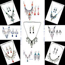 20 STONE GLASS NECKLACES EARRINGS PERUVIAN JEWELRY PERU WHOLESALE ALPACA SILVER