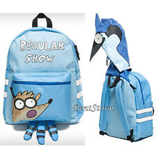 The Regular Show Mordecai Blue Bird 3D Hood Character Backpack School Book Bag