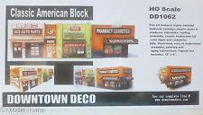 Downtown Deco HO #1062 Classic American Block (Plaster Building kit)