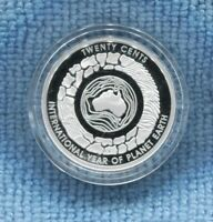 2008 Planet Earth 20 Cent Coin Australia ex Fine Silver Set