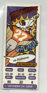 1998 Tennessee VOLS vs Alabama Ticket Stub, BCS National Champs 13-0, AL WILSON
