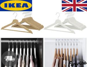8 x IKEA Bumerang Wooden Clothes Hangers Wood Trouser Coat Suit Hanger Fast P+P