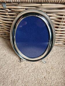 Vintage Alpavi Spanish ALPACA Nickel Silver Oval Picture Photo Frame Stand