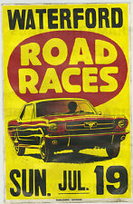 1960's Ford Mustang Race Vintage Advertising Poster 11 x 17 Waterford Michigan