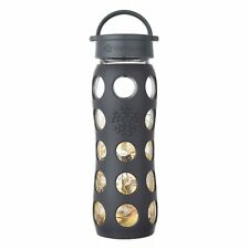 Lifefactory BPA FREE 22 oz Glass Water Bottle w Silicone Sleeve & 24k Fused Gold