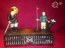 Cast Iron Birdie Putt Golf Mechanical Bank  Work