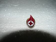 RED CROSS BLOOD BANK DONATION PIN - RED