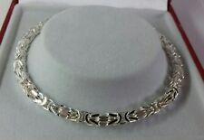 Sterling Silver Ladies Solid Byzantine Bracelet. 7.75 inch. 11.8g. British Made.