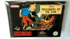 Tintin Prisoners of the Sun SNES PAL boxed complete