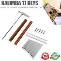 17 Tasten Kalimba DIY Steel Keys + Holzbrücke +Stahl Stimmhammer Kit Thumb Piano