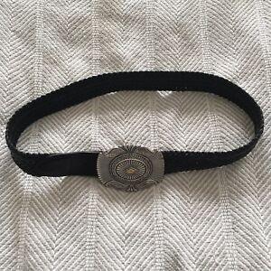 Vintage Size 30 Tony Lama Braided Western Belt Large Buckle 7063L EUC