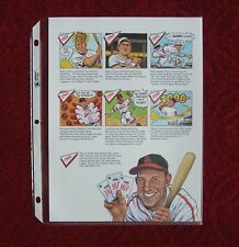 Stan Musial 1948 Page Cut Colorful Caricature Drawing Sketch Photo Oddball