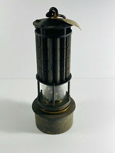 Antique Miner's Wolf Safety Lamp Lantern pittsburgh PA nice patina
