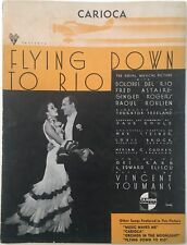 """1933 ASTAIRE & ROGERS """"FLYING DOWN TO RIO"""" MOVIE SHEET MUSIC """"THE CARIOCA"""""""