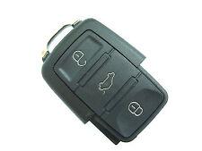 VW Beetle Bora Jetta Phaeton Tiguan Touareg 3 Button Flip Remote Key Fob Case