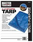 Polyethylene Tarp, Blue, 12 x 20-Ft.