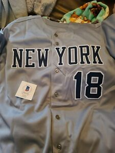 Don Larsen Signed custom Stat Jersey With Beckett Authentication