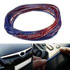 5M Car Grille Interior Exterior Mouldings Trim Outlet Decoration Strip Blue Line