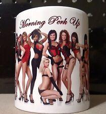 Morning Perk Up - Beautiful Sexy Girls - 11 ounce ceramic coffee mug