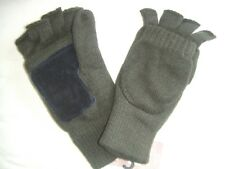 GREEN SUEDE PALM THINSULATE THERMAL LINED WINTER SHOOTERS SHOOTING MITTS MITTENS