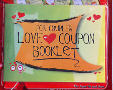 LOVE Coupon Booklet for Couples (12 coupons)