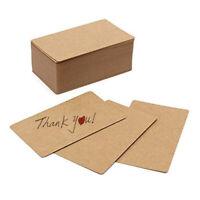 100pcs Blank Kraft paper Business Cards Word Card Message Card DIY Gift Car N9D1