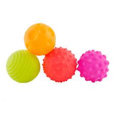 4Pcs Baby Rattle Toys Balls Hand Grasping Balls Sensory Balls Soft Textured Ball
