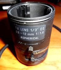 """Tamron 2.8-12mm Focal 1/3"""" 1:1.4 CCTV Auto Iris Security Camera Lens Aspherical"""