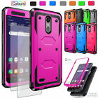 For LG Aristo/MS210/M210/K8 2017 Hybrid Rubber Armor Phone Case/Screen Protector