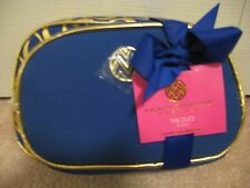 MACBETH COLLECTION MAKEUP BAG DUO SET * DANIELLE Creations * BLUE & GOLD * NWT